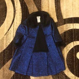 Royal Blue & Black 2 pc Dress